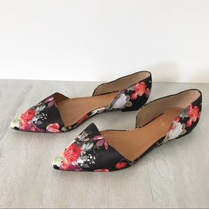 New HALOGEN Floral Pointy Toe Flats 6